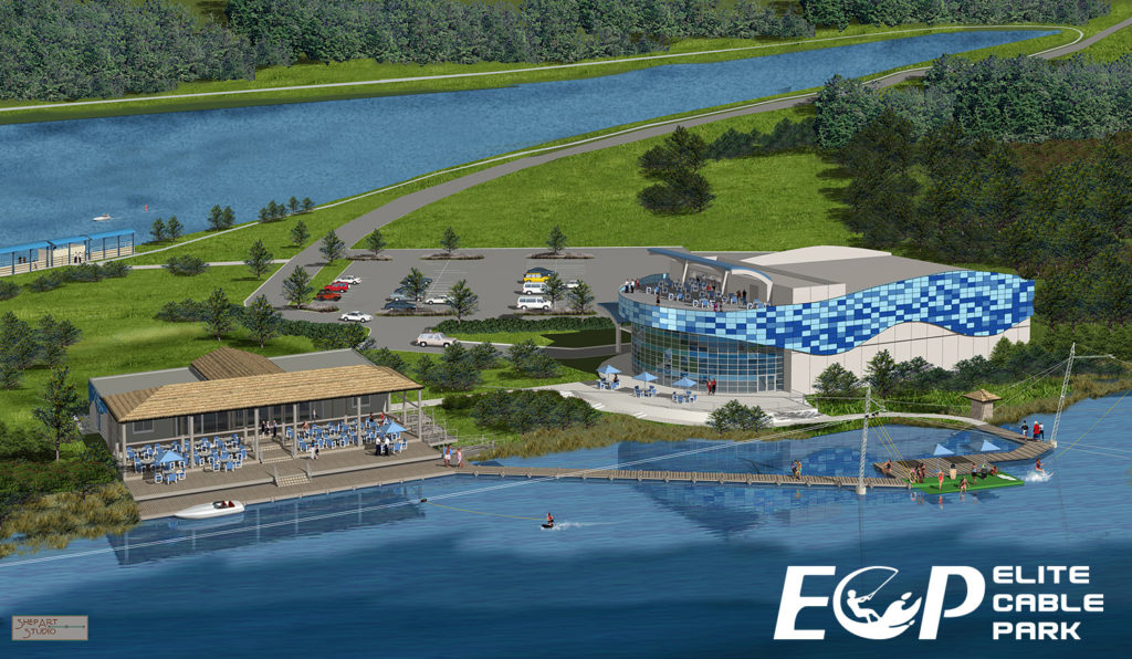 Elite Cable Park and the future site of the USA Water Ski Hall of Fame Museum and HQ